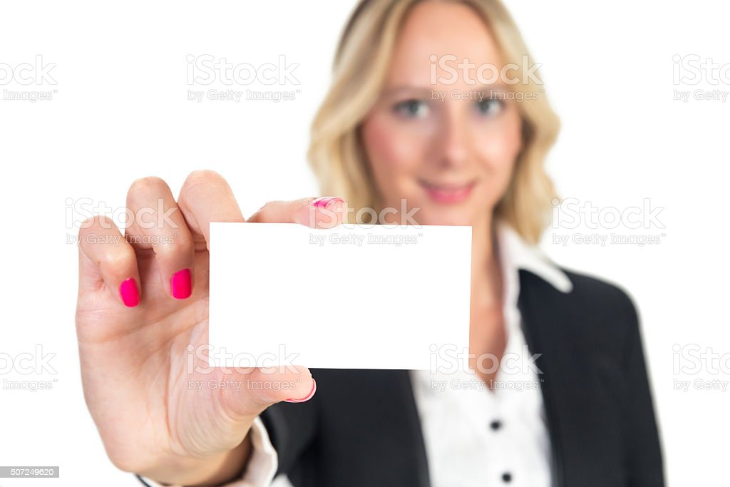 White great card stock photo