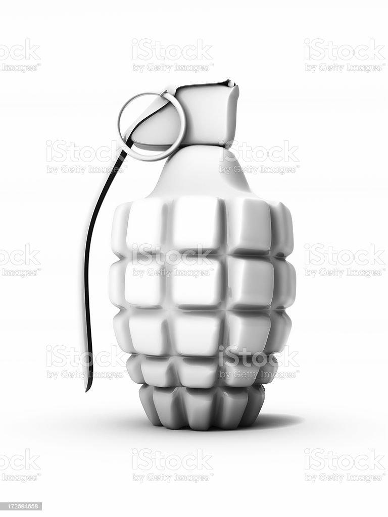 White Grenade stock photo