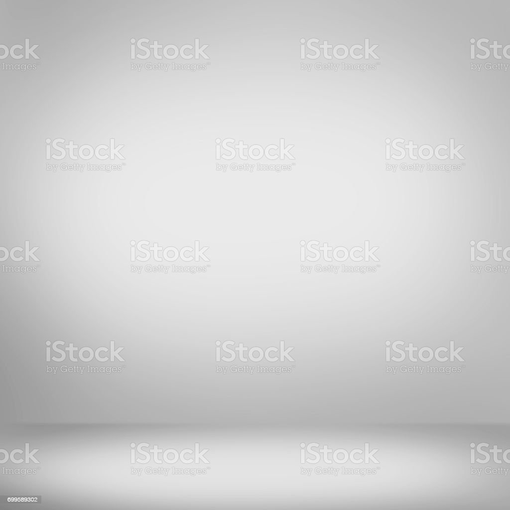 White grey gradient abstract background stock photo