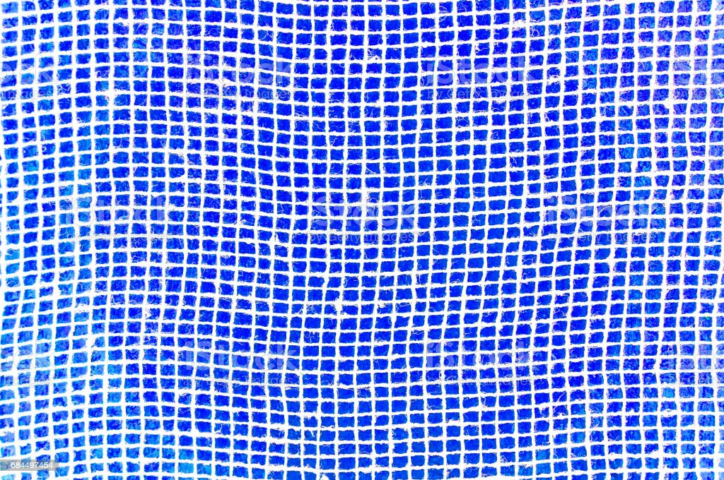 White grid on a blue background. stock photo