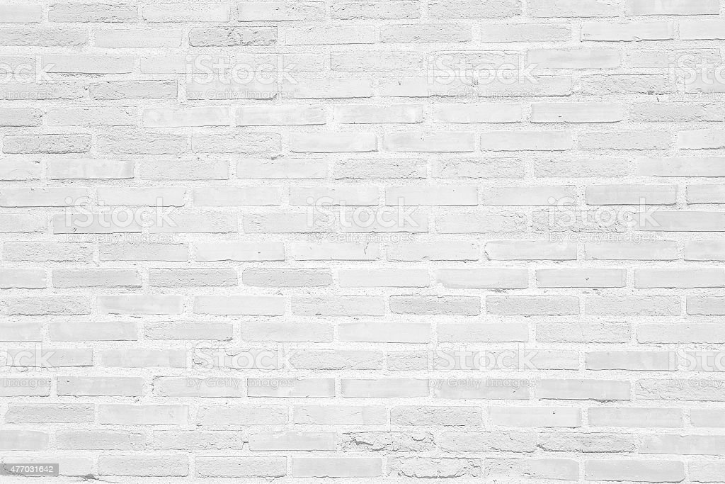 White grunge brick wall texture background stock photo