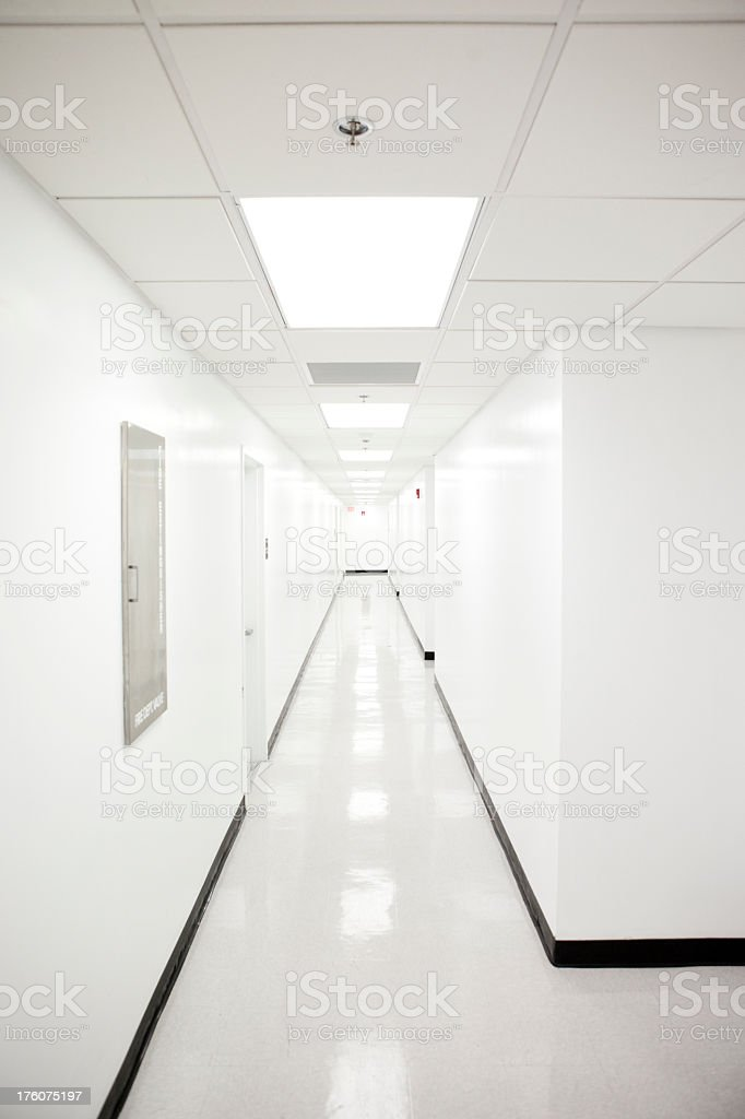 White Hallway royalty-free stock photo