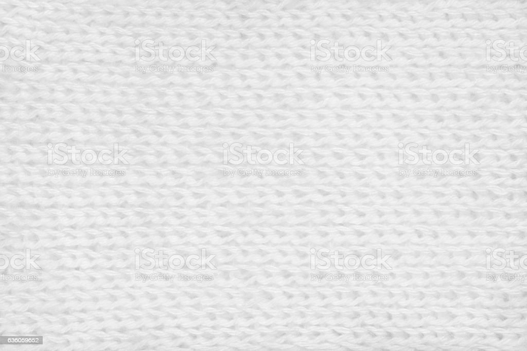 White hand-knitted mohair fabric textile pattern background stock photo