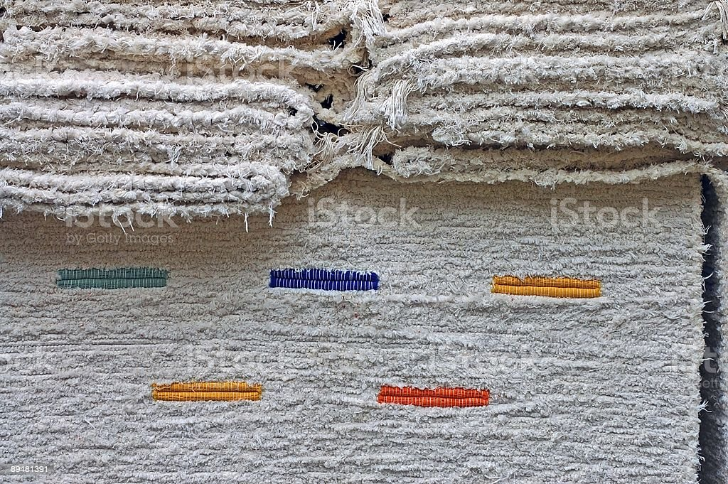 white hand-made carpet's pile background royalty-free stock photo