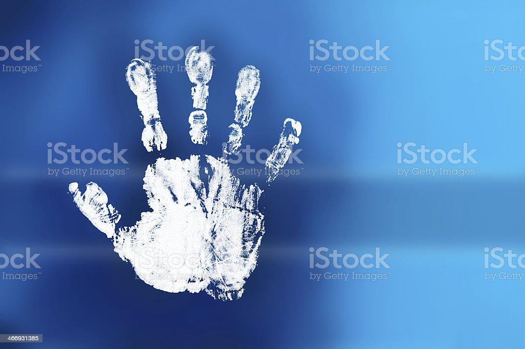 white handprint royalty-free stock photo