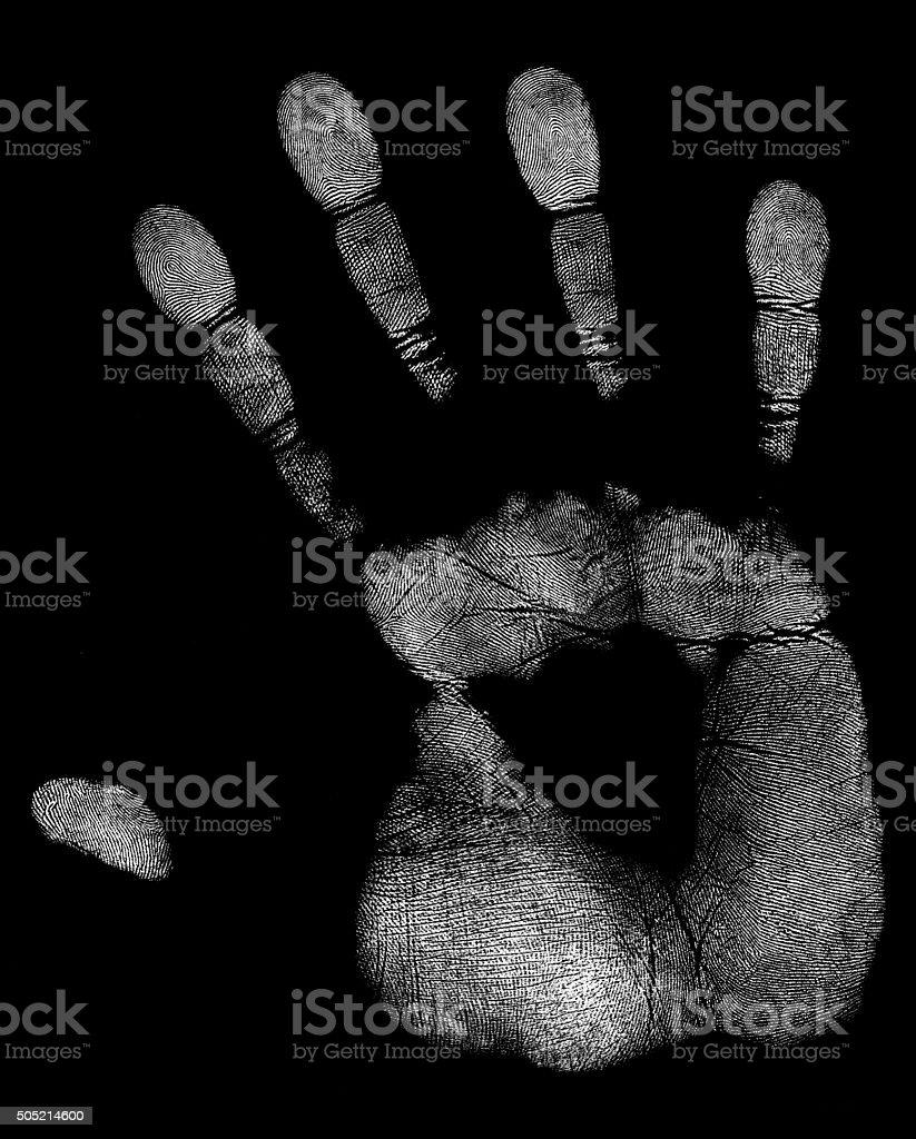 white handprint stock photo