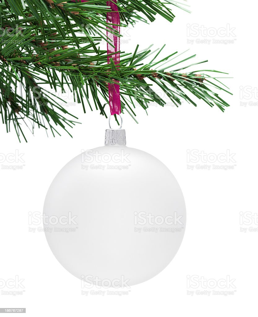 White hanging Bauble royalty-free stock photo