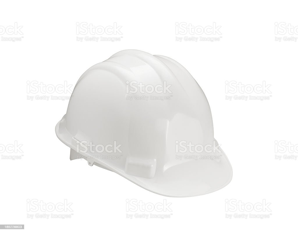 White Hard Hat (Click for more) royalty-free stock photo