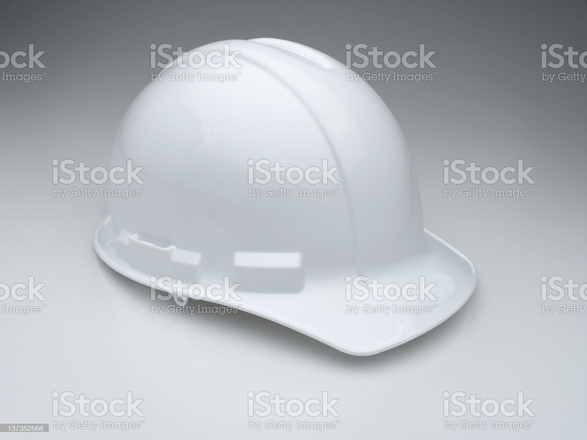 White Hard Hat XXXL royalty-free stock photo