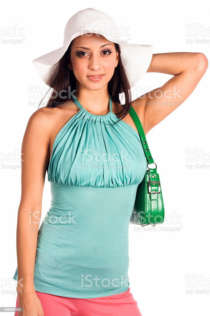 White Hat Latina royalty-free stock photo