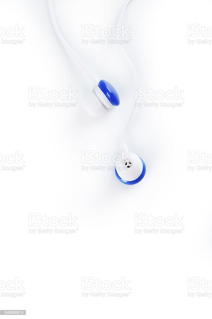White headphones isolated on a white stock photo