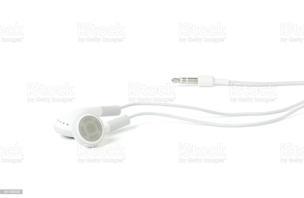 White headphones stock photo