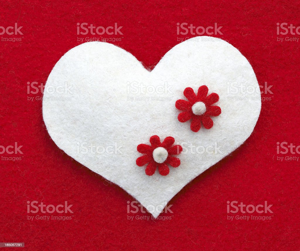 White Heart royalty-free stock photo
