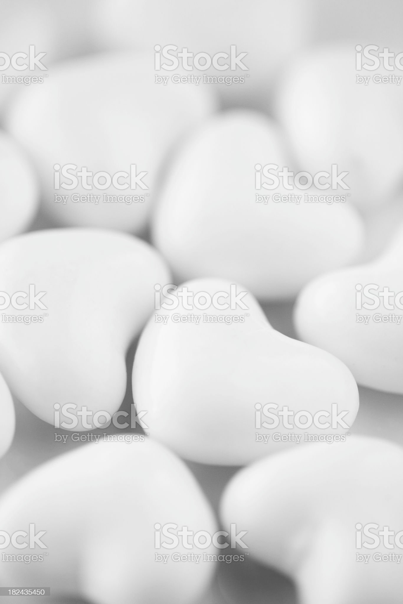 White Hearts royalty-free stock photo