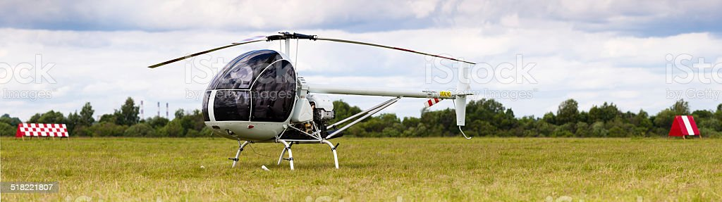 white helicopter stock photo