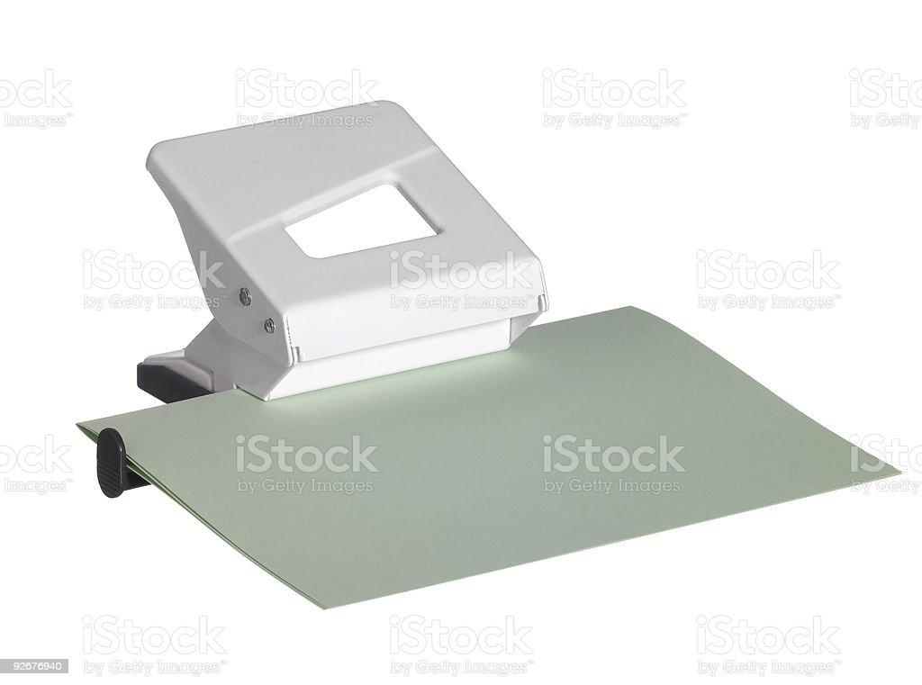 white hole puncher stock photo