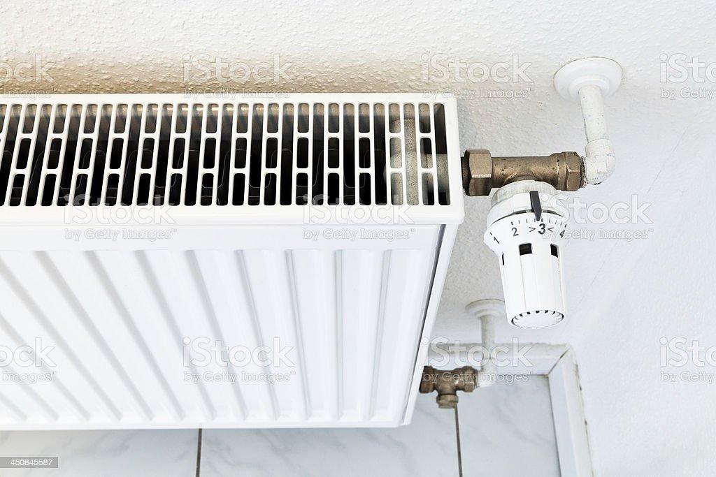 white home heat radiator royalty-free stock photo