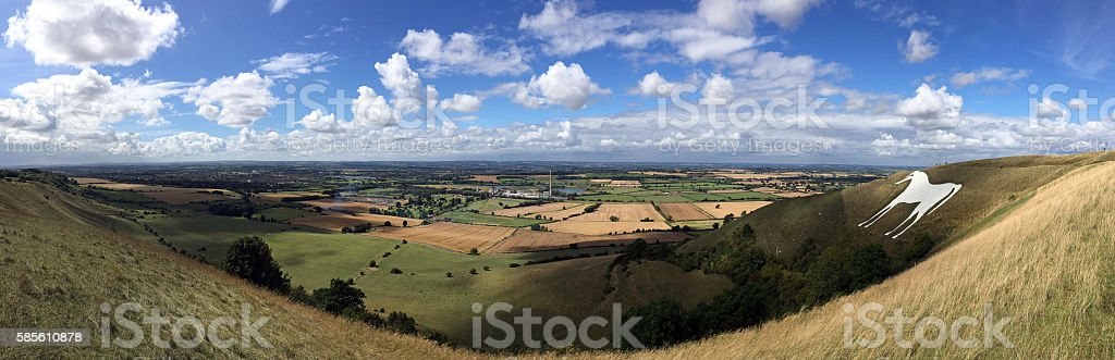 White Horse Hill stock photo