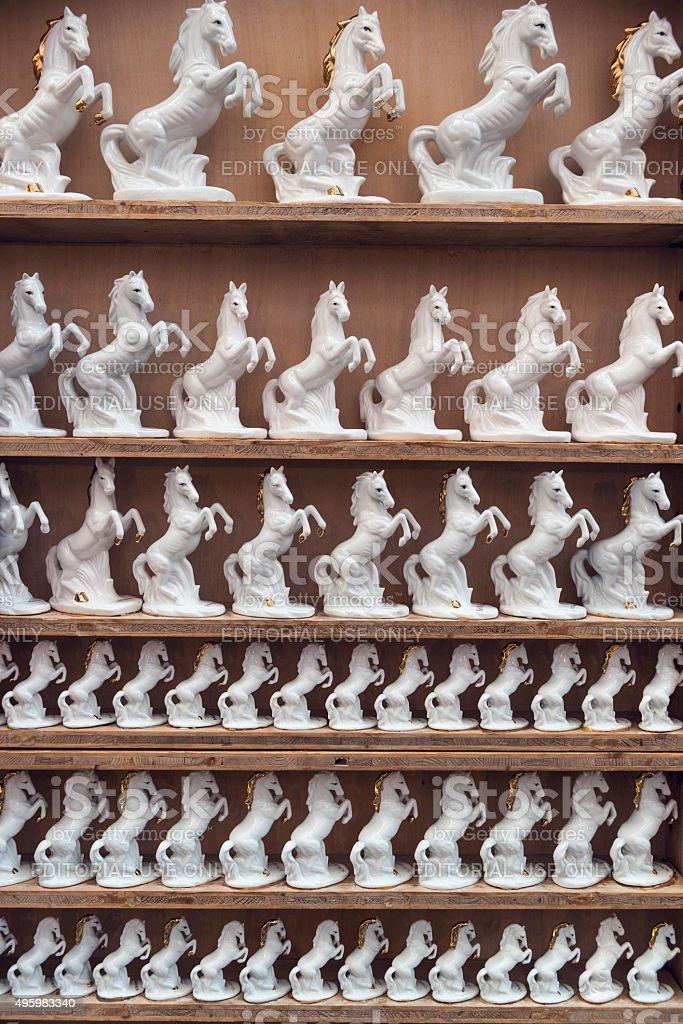 white horse souvenir stock photo