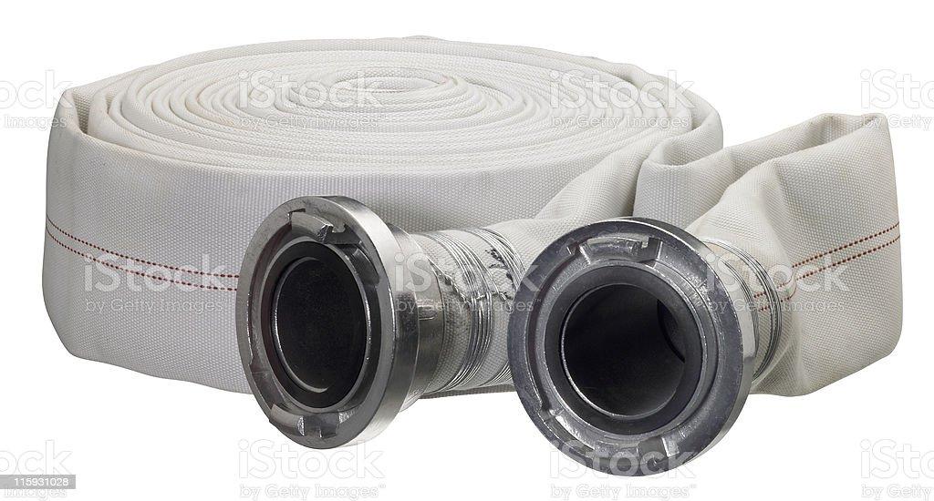 white hose roll stock photo