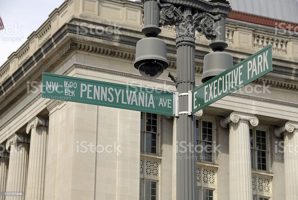 White House Address: 1600 Pennsylvania Ave royalty-free stock photo
