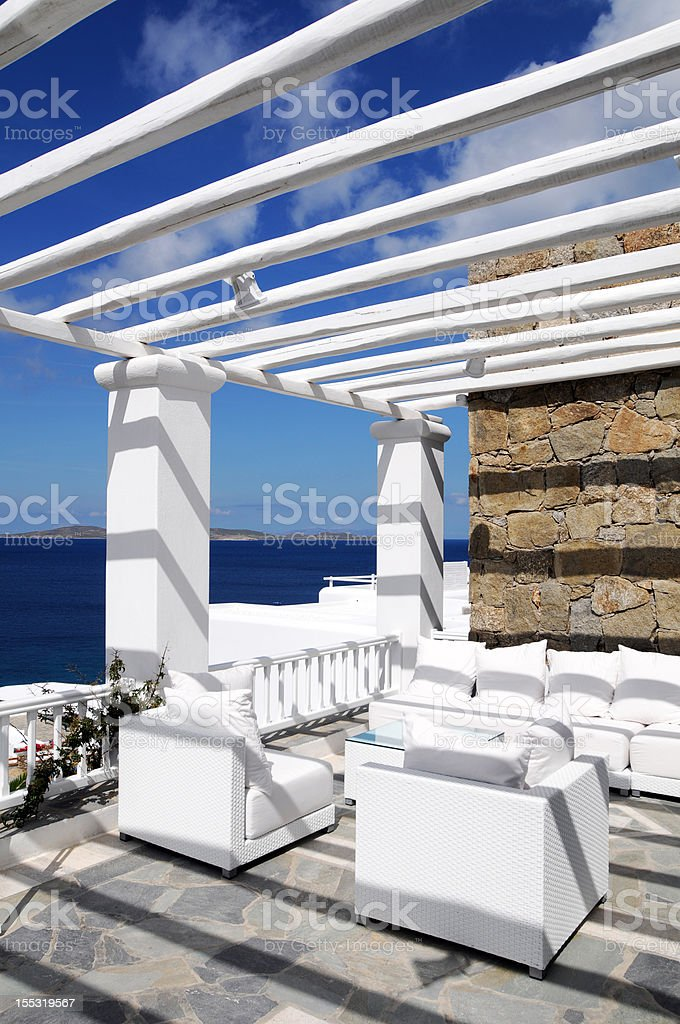White House and Beautiful Seascape stock photo
