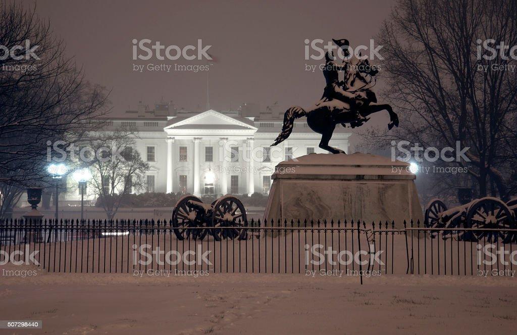 White House at night stock photo