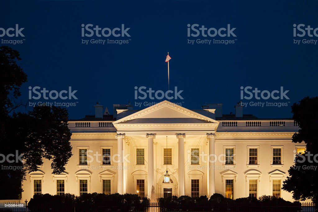 White House at Twilight stock photo