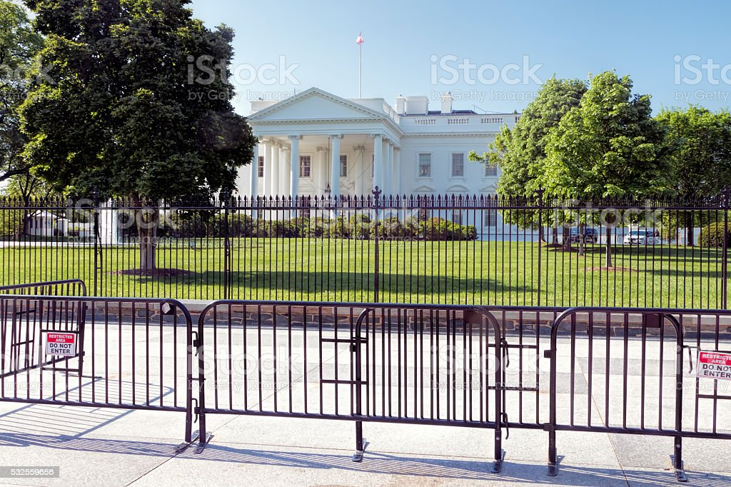 White House Barrier stock photo