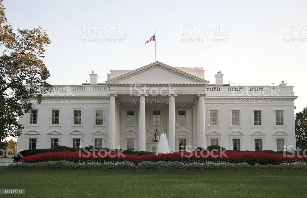 White House Front View royalty-free stock photo