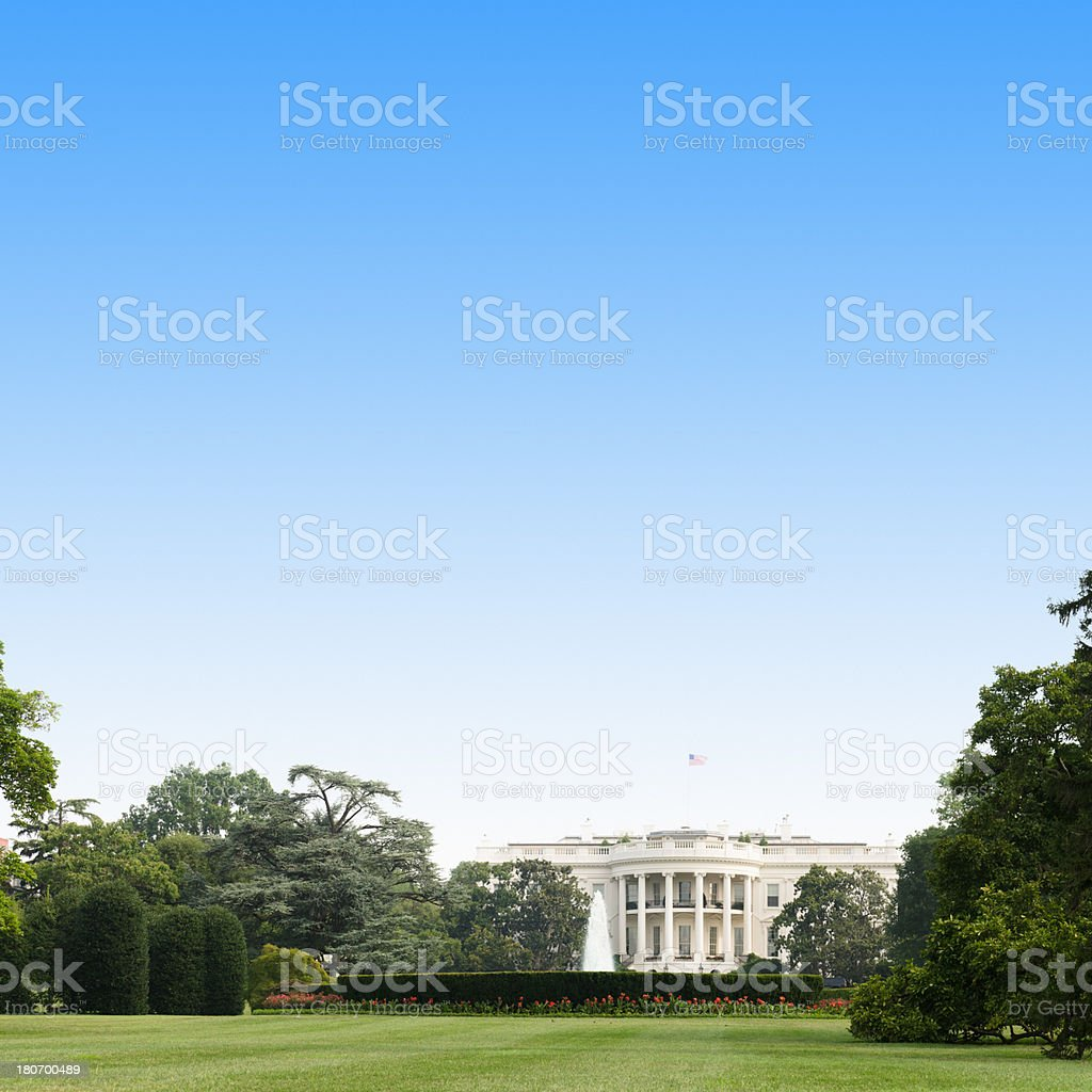 White House in Washington DC royalty-free stock photo