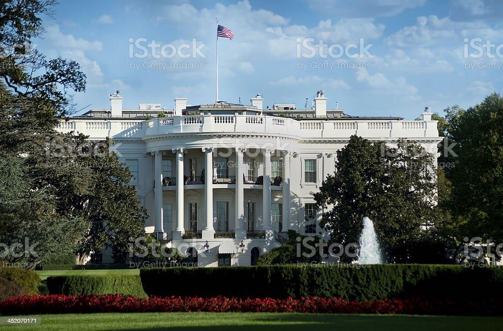 White House in Washington DC. stock photo