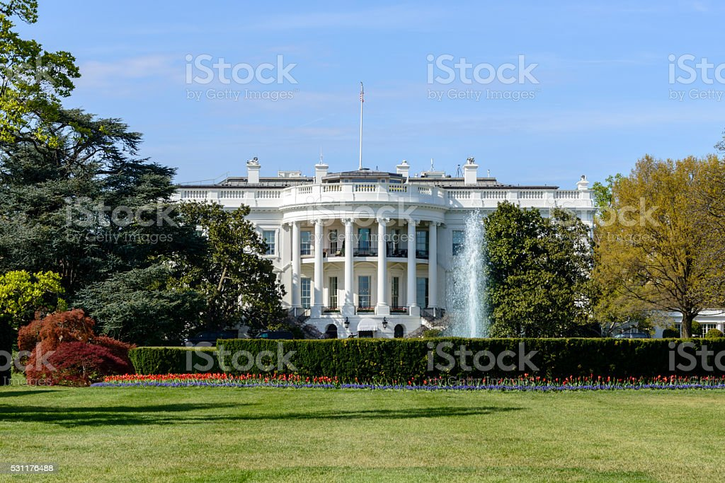 White House in Washington, DC stock photo