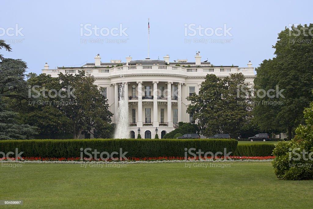 White House in Washington DC stock photo