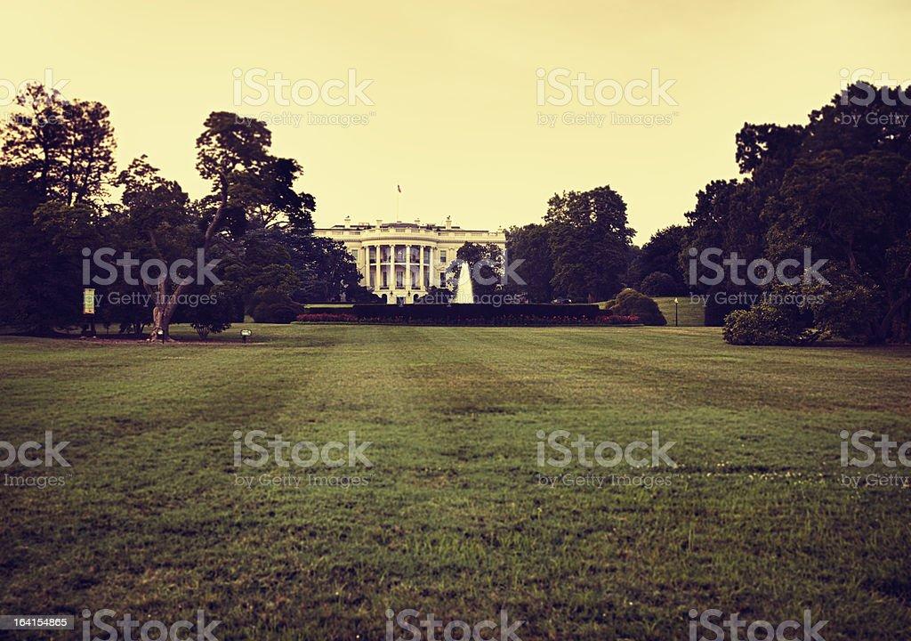 White House in Washington DC - Sepia toning stock photo