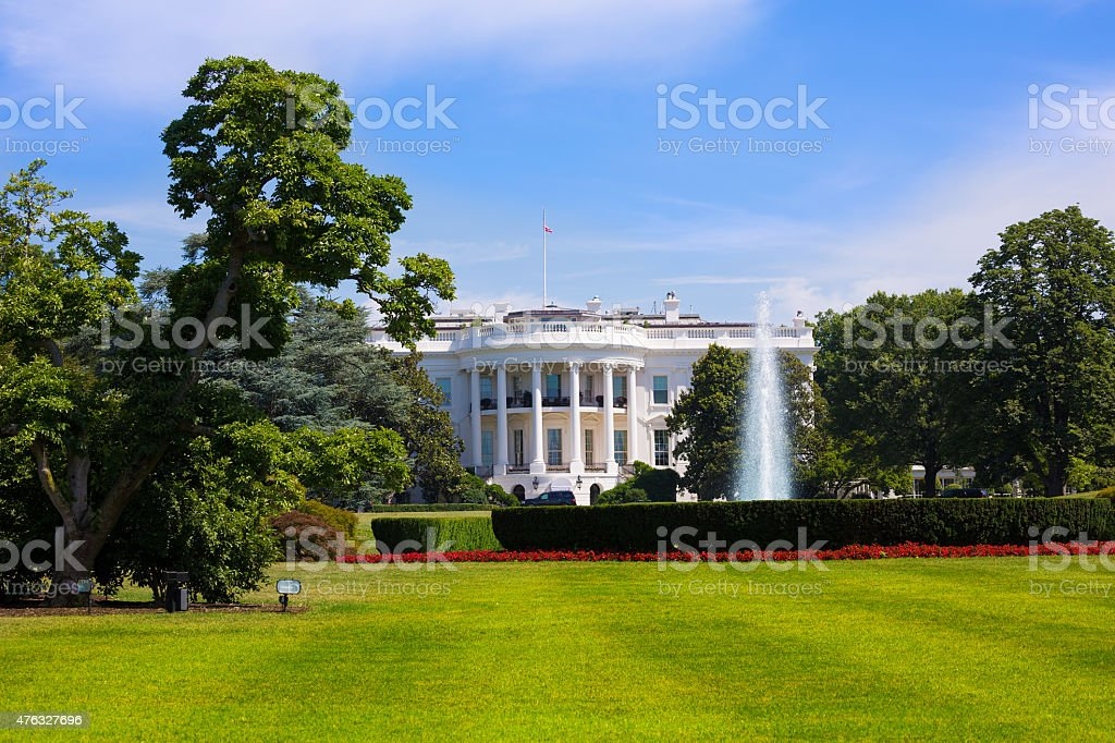 White House in Washington DC USA stock photo