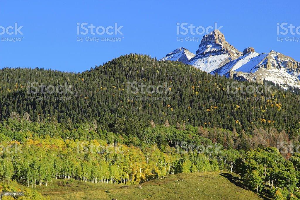 White House mountain, Mount Sneffels Range, Colorado stock photo