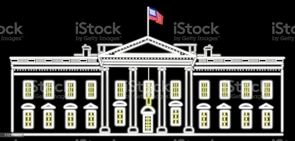 White House Neon royalty-free stock photo