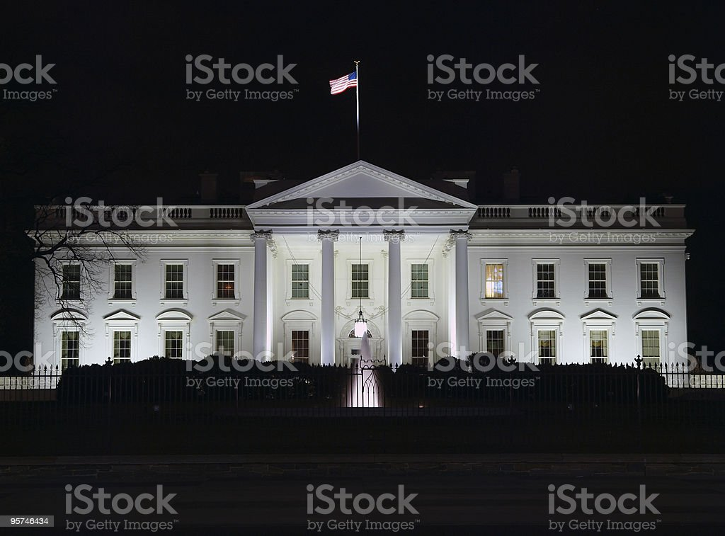 White House Night stock photo