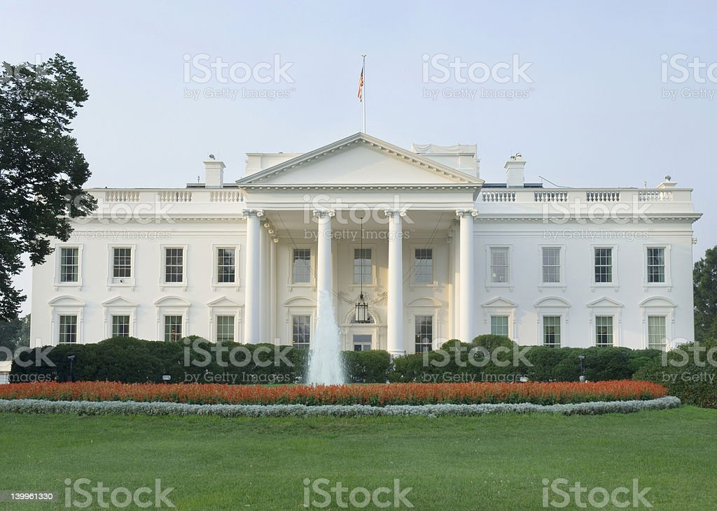 White House, North Portico royalty-free stock photo