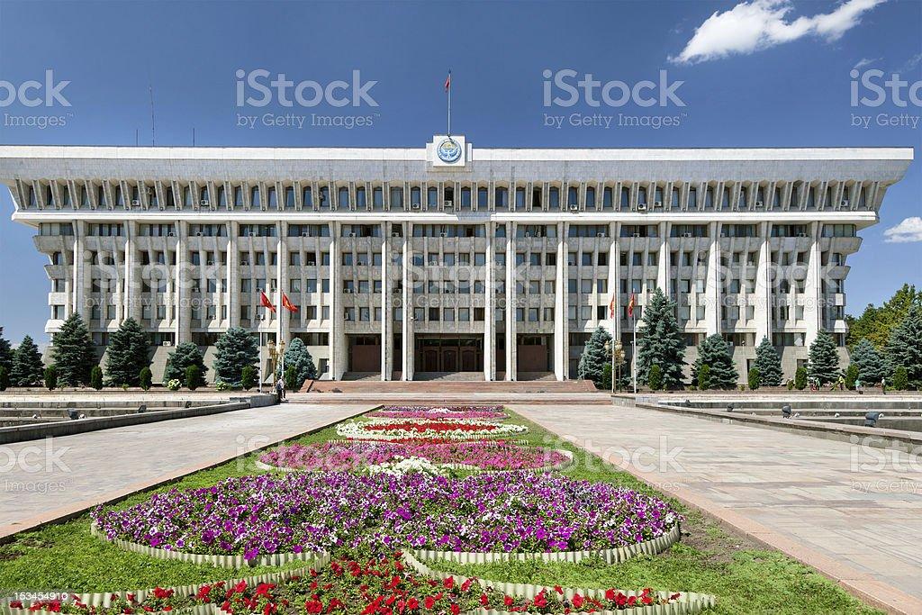 White House of republic Kyrgyzstan stock photo