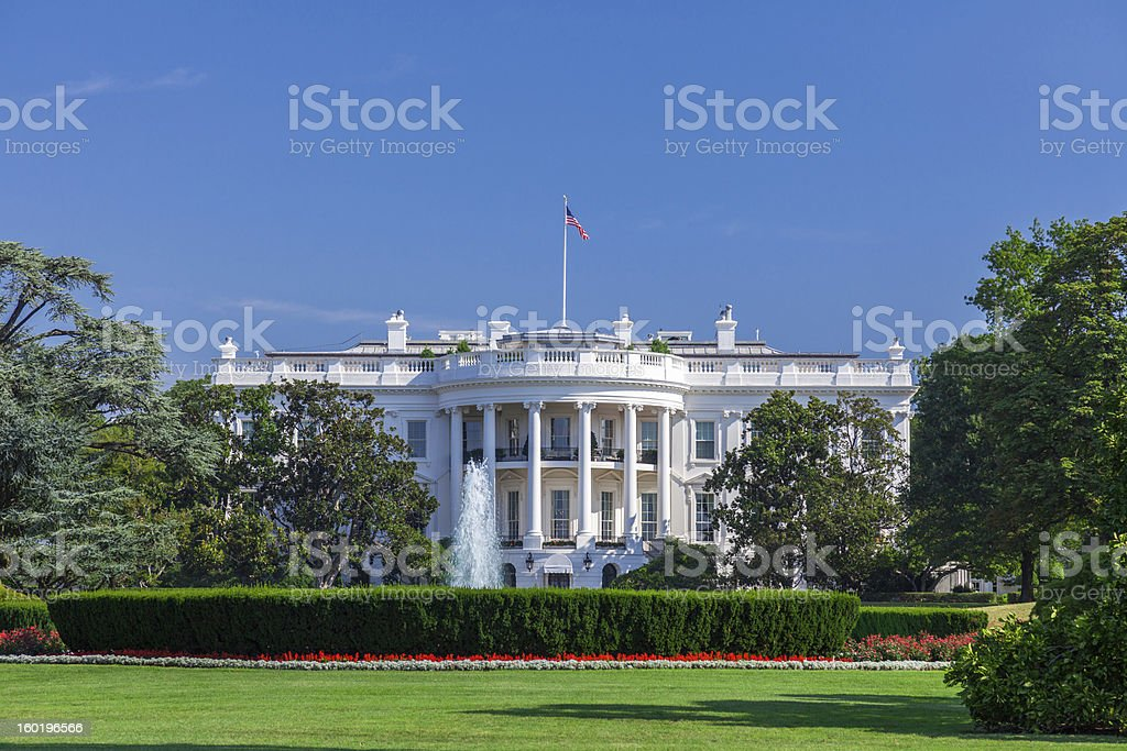 White House on a Clear Sky stock photo