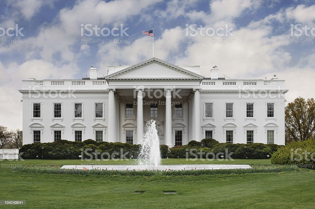 White House Rose Garden stock photo