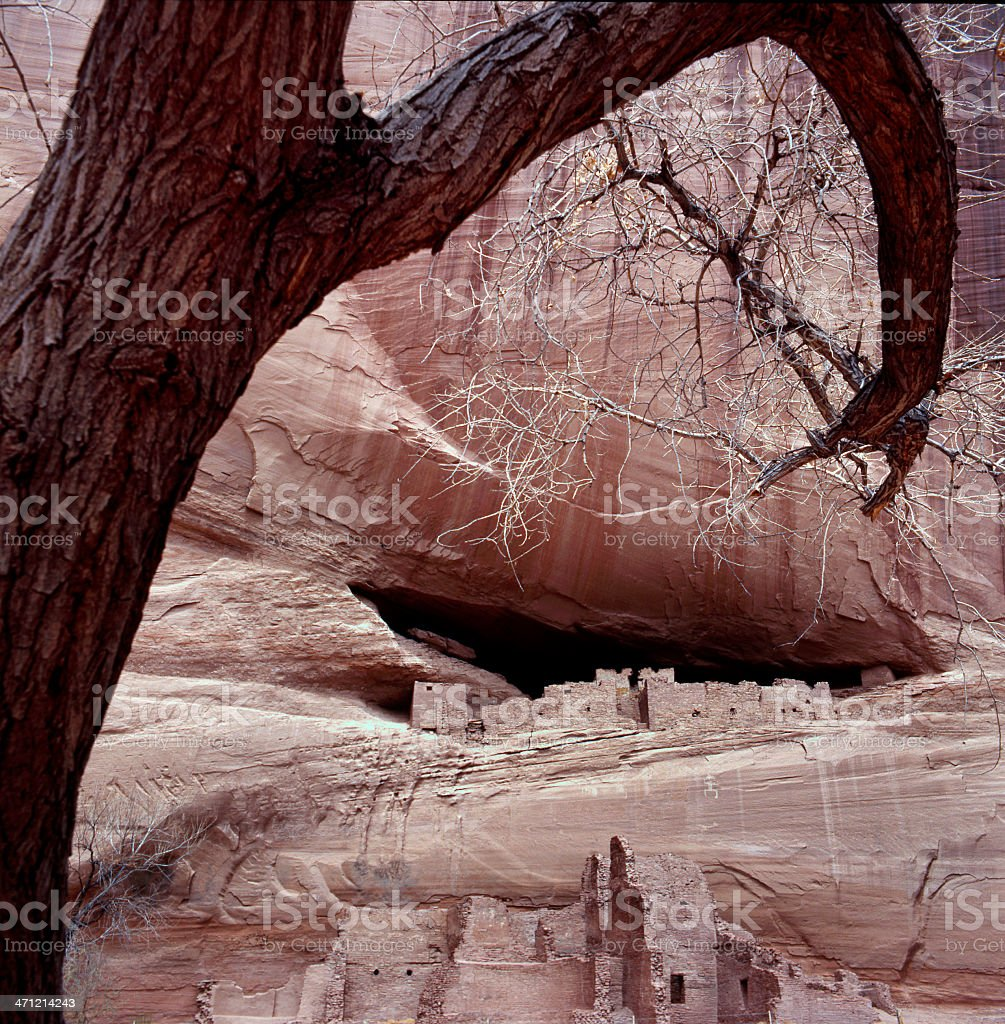 White House Ruins at Canyon de Chelly stock photo