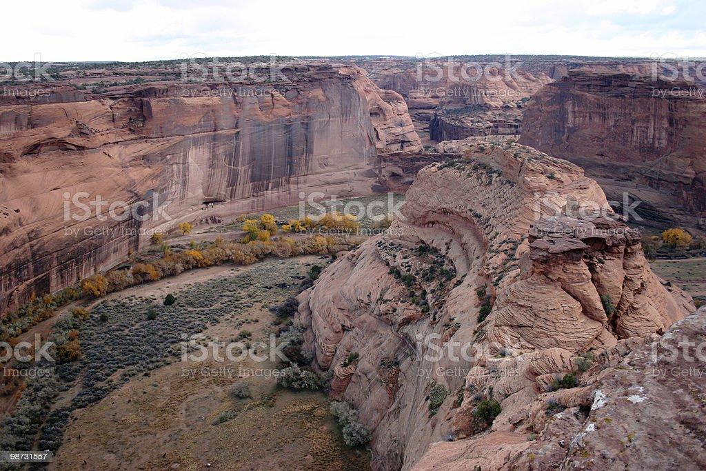 White House Ruins, Canyon De Chelly royalty-free stock photo