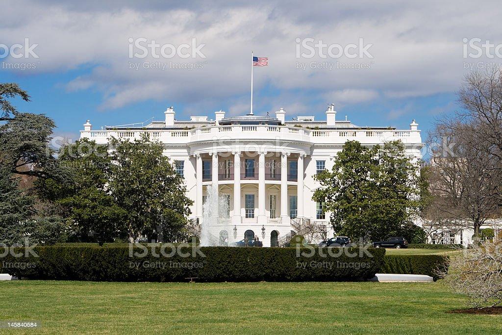 White House South Lawn, Blue Sky, Washington, DC, USA royalty-free stock photo