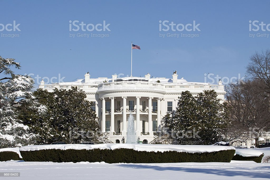 White House, winter royalty-free stock photo