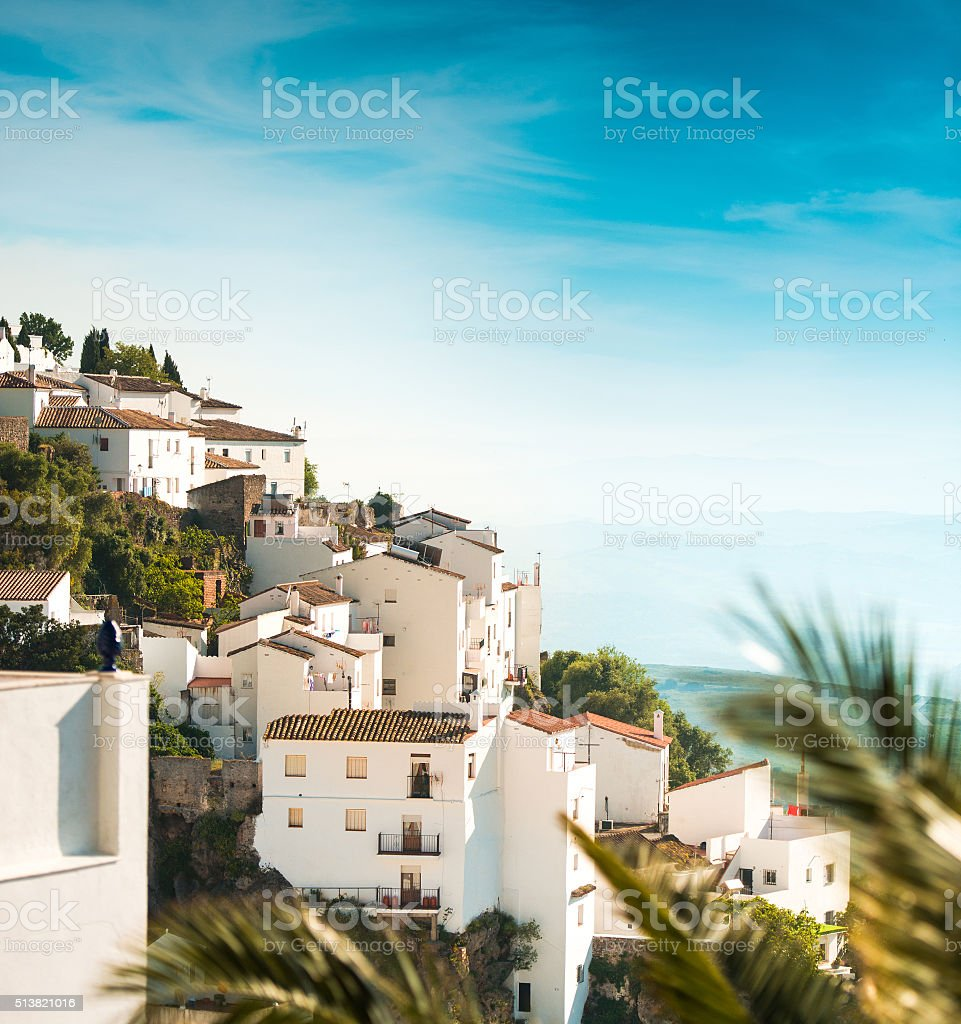 white houses in Spanish village stock photo