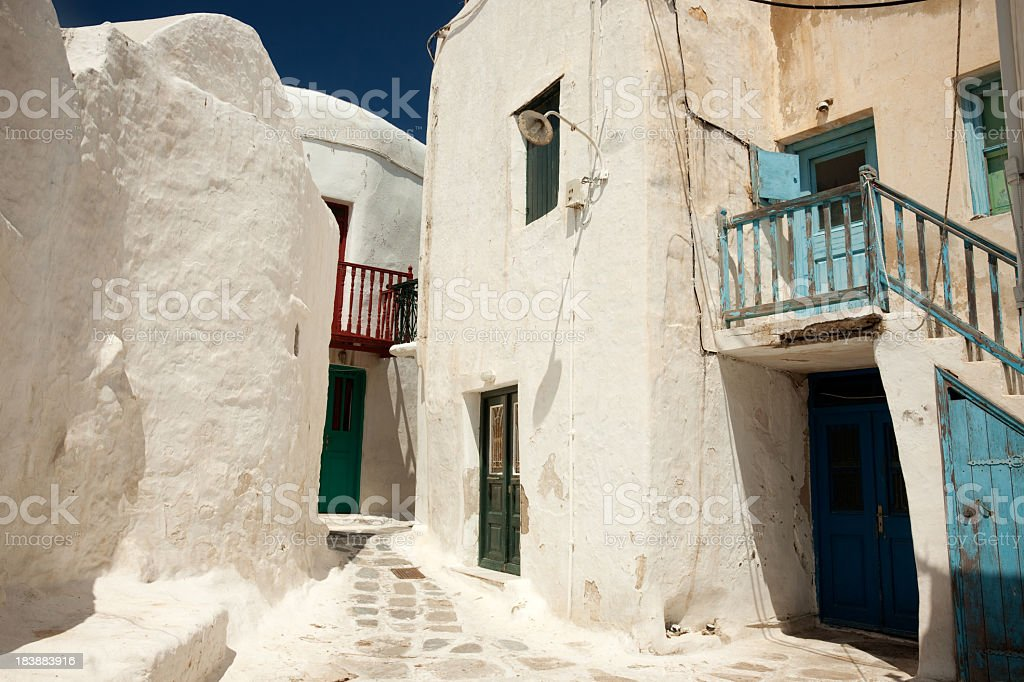 White houses, Mykonos, Greece royalty-free stock photo