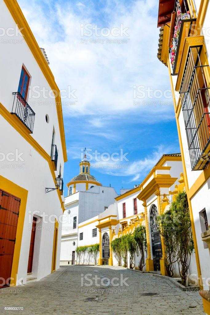 white houses of seville stock photo